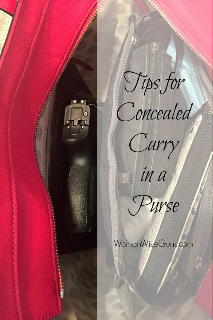 Tips for concealed carry in a purse on WomanWiseGuns.com #concealedcarry #concealedcarrypurse