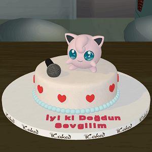 jiggly puff butik doğum günü pastası, pokemon pastası, özel tasarım çocuk pastaları, icaked jiggly puff butik pasta