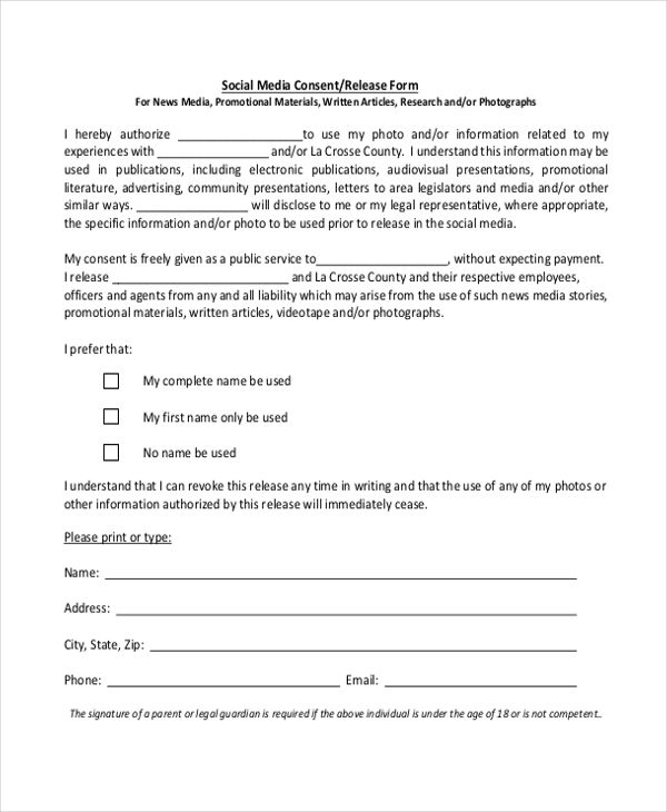 social media consent form template - Yahoo Image Search