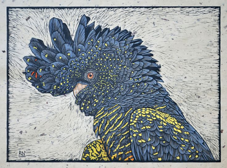 Birds 1 - Linocuts — Rachel Newling