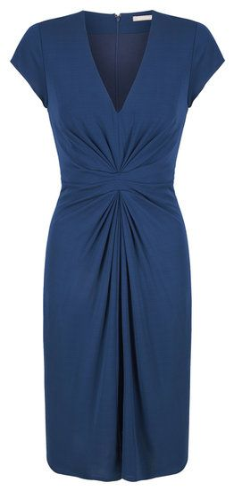 With a similar midsection twist, this jewel-toned blue sheath ($130) is a smart work-ready buy.
