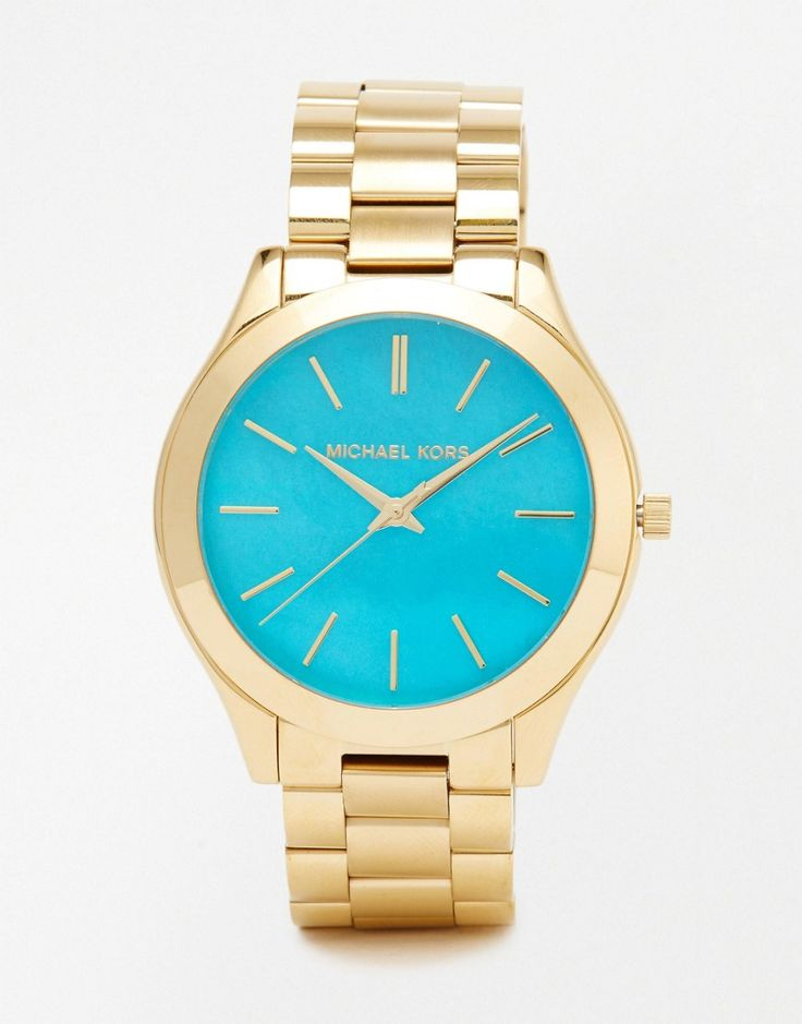 Image 1 of Michael Kors Gold Slim Runway Watch MK3492