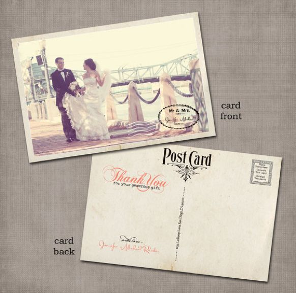 Vintage Postcard Thank You Cards