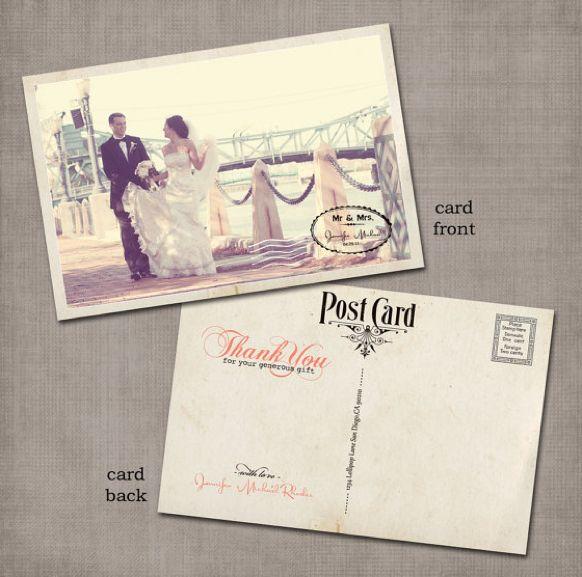 Vintage postcard thank you cards.: Vintage Postcards, Save The Date, Vintage Wedding, Wedding Ideas, Thank You Cards, Postcard Idea