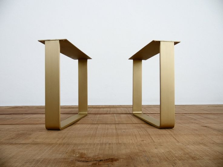 """16""""  Flat Brass Table Legs.Brass Coffee Table Legs from Balasagun Brass Table Collection.Basic and stylish table legs design meet chic brass material."""