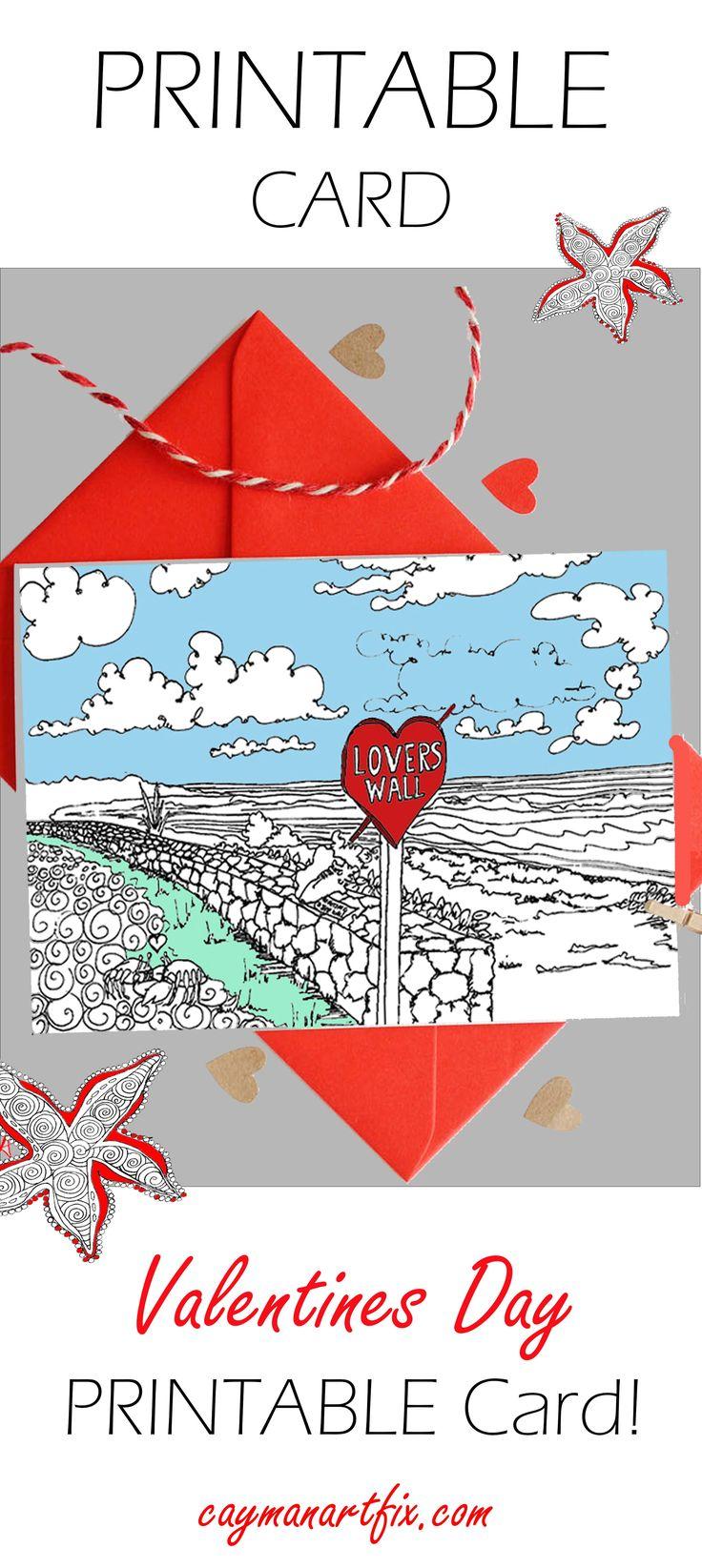 #valentinesday #printable #card #color #keepsake #Loverswall #eastend #Caymanislands #caymanartist #Celebrate #personalised #gift #2018 #caymanislands #caymanartfix