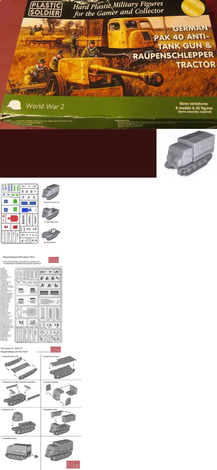 15mm 158728: Plastic Soldier Company Ww2g15004 15Mm Wwii German Pak 40 Anti-Tank Gun Tractor -> BUY IT NOW ONLY: $30.83 on eBay!