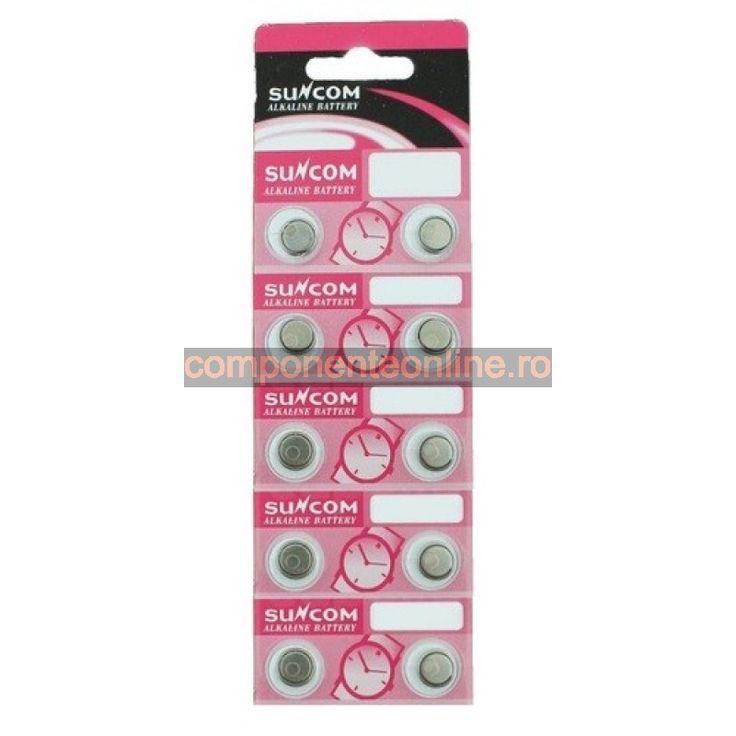 Baterie AG7, LR927, LR57, alkalina, blister de 10 bucati - 111214