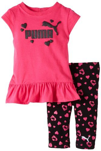 Save $24.90 on Puma - Kids Baby-Girls Infant Heart Print Biker Capri Set;