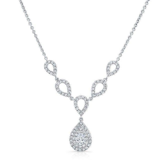18k white gold forevermark diamond necklace fm3308018w
