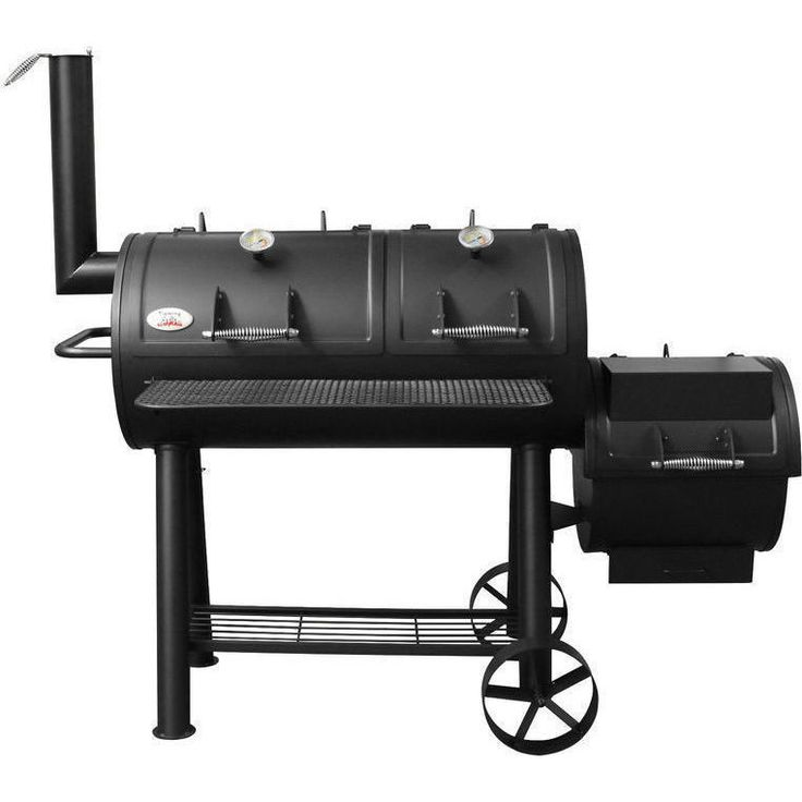 Flaming Coals Wood Charcoal Texas Offset Smoker BBQ | Buy Smokers