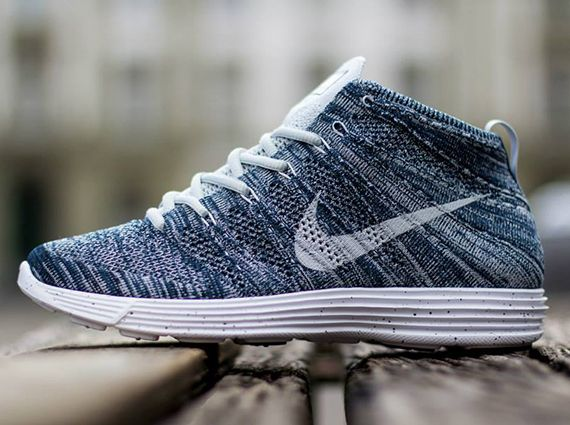 Nike Lunar Flyknit Chukka - Squadron Blue - Pure Platinum - Obsidian - White, I'm definitely Getting These!