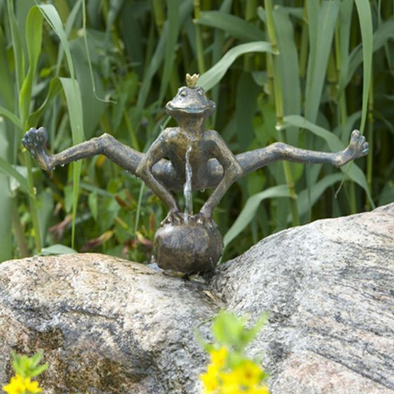 Froschkonig Dietmar Als Wasserspeier Frosche Wasserspeier Bronze