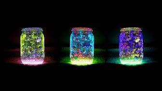 Homemade Fairy Lantern Jar (no tissue version) - YouTube