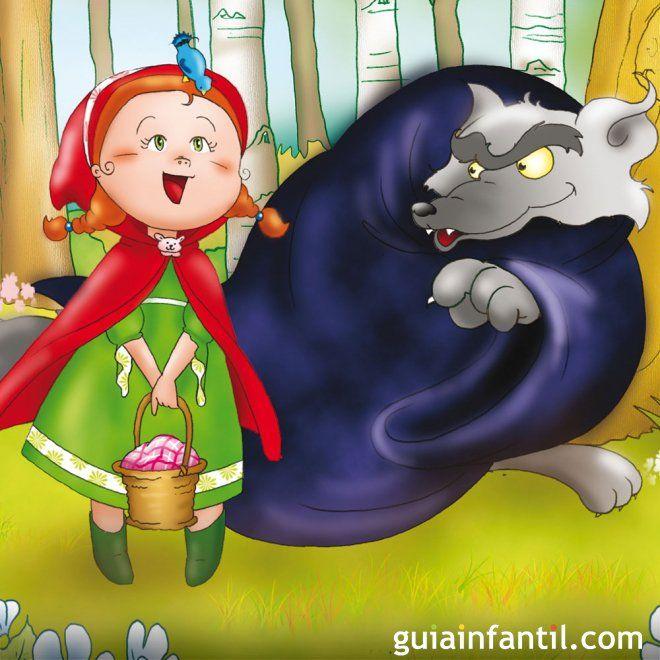 Caperucita Roja. Cuento tradicional infantil en inglés - Cuentos tradicionales en inglés para niños