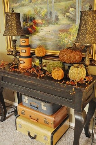 Fall Thanksgiving pumpkin decor with an old world flair!