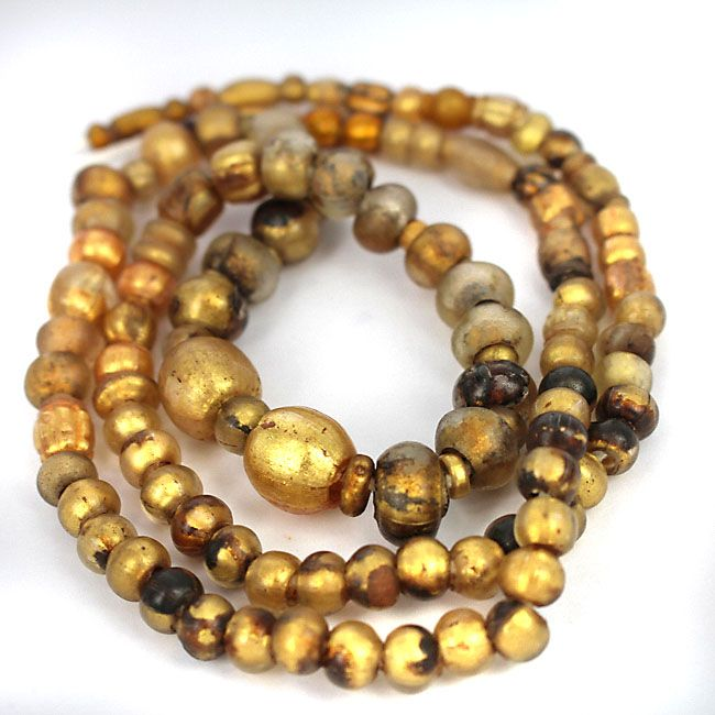 Rare Collection of Gold in Glass Beads -  Collected from Balochistan Pakistan