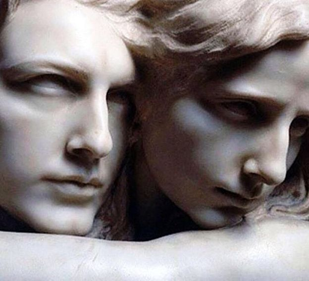 """Eternal...""""L'abisso"""" (The Abyss), detail, by Pietro Canonica, 1869."""