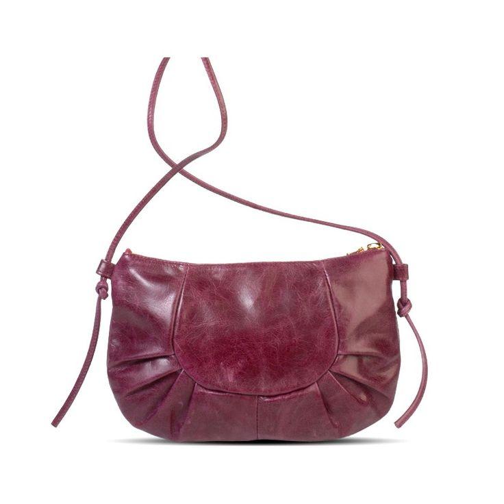 Inès Carmin pleated leather bag - Brontibay