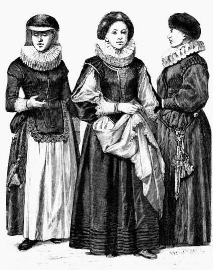 Одежда немецких женщин, 17 век