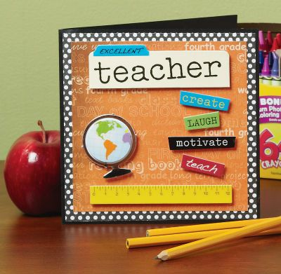 cute card to make for a teacher...