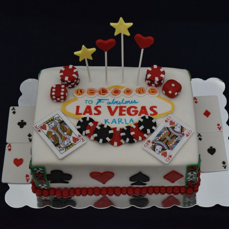 Las Vegas themed Birthday Cake! https://nichaliciousbaking.wordpress.com/las-vegas-themed-birthday-cake/