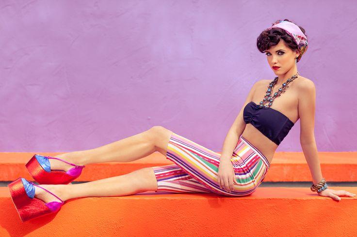 "Black Cat Vintage April 2012 - ""Desert Jet Setter""    Creative Direction and Stylist: {Sydney Ballesteros} |    Photography: Stacia Lugo |     Model: Lisa-Marie Lipscomb-FORD Models |  Makeup: Tangie Duffey |  Hair: Raul Mendoza"