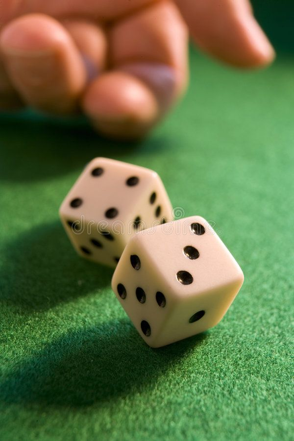 Rolling dice. Hand rolling dice onto a green baize , #Aff ...