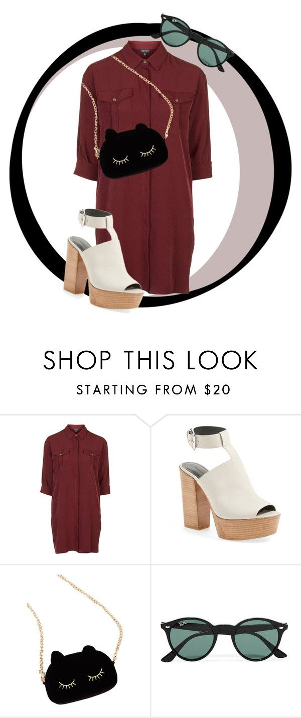 Outfit of the Week by craneberries on Polyvore featuring Topshop, Rebecca Minkoff, WithChic, Ray-Ban, Summer, inspiration, springfashion and spring2016