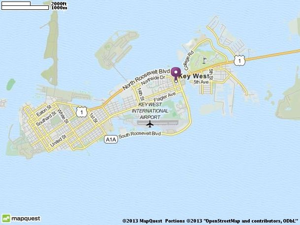 A week away!! Map of Key West, Florida