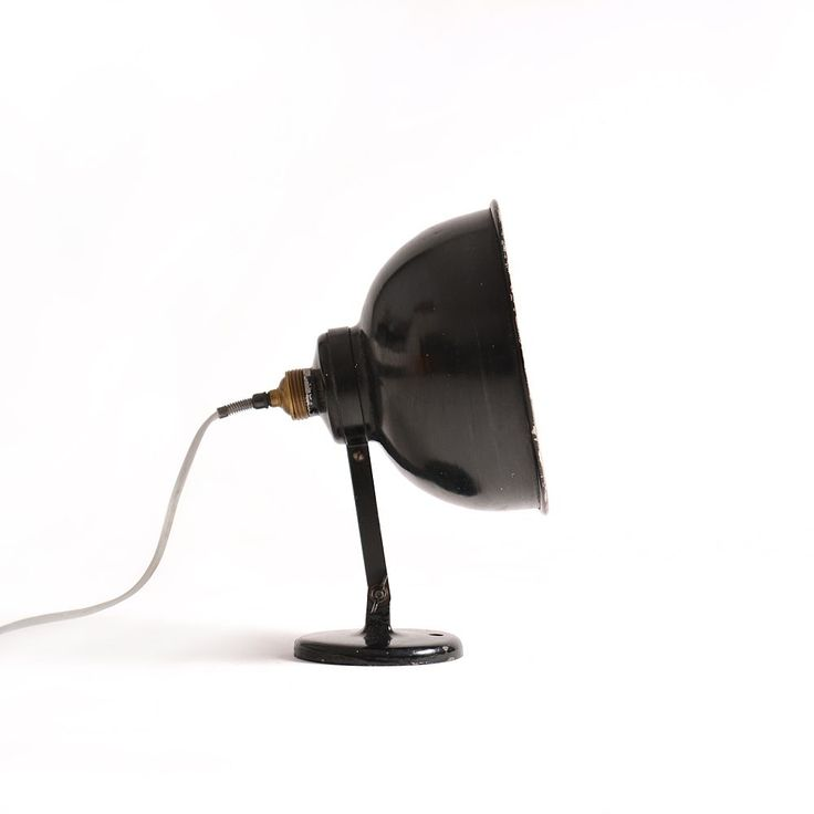 Vintage industrial lamp, constructed as a  standing floor lamp, or wall attachable lamp. Made in First Republic – Czechoslovakia.
