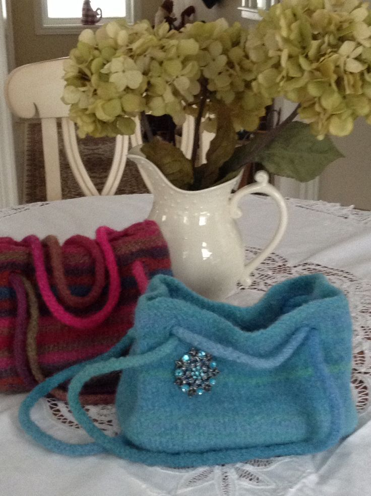 Wool, Felted wool and Purses on Pinterest