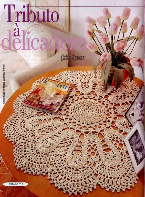 Crochet - Beautiful projects for the home, mainly doily, cushion covers and other projects.