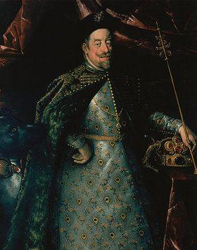 THIS FABRIC!!!! Hans von Aachen: Kaiser Matthias (1557-1619) als König von Böhmen (Ausschnitt). Um 1612.