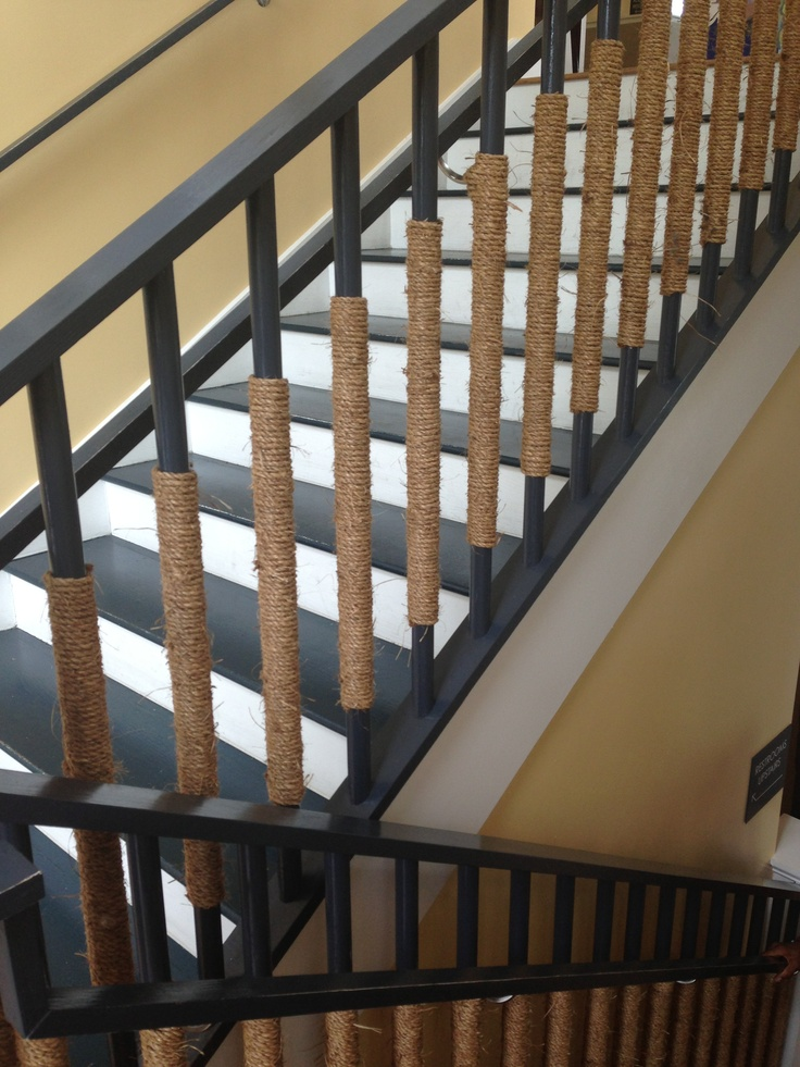 Best Wrap Rope Around Stair Railing Good For A Nautical Theme 400 x 300