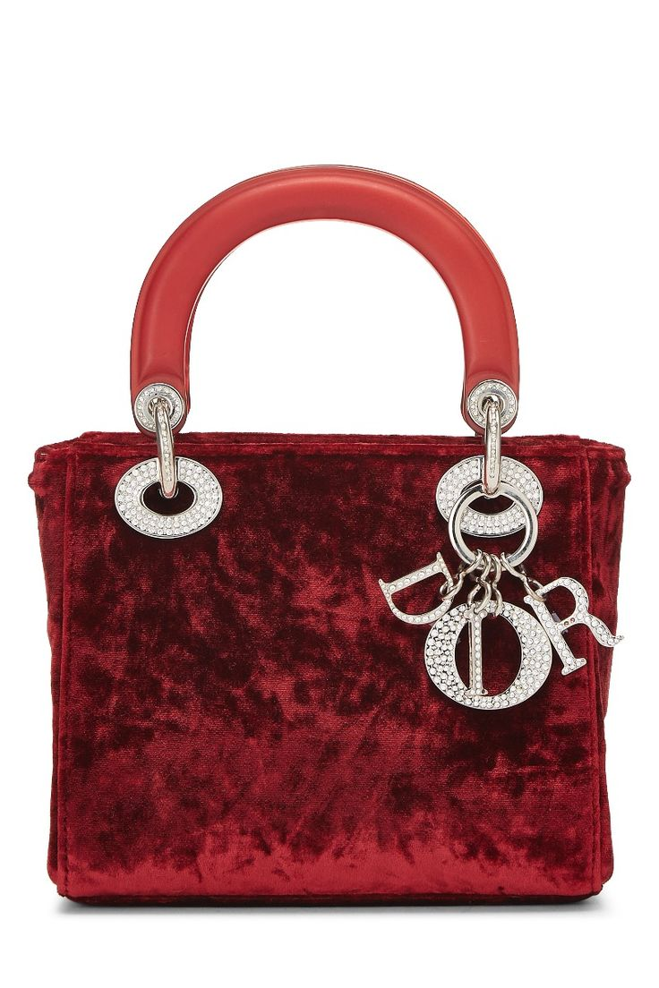 Red Velvet Lady Dior Mini in 2020 Lady dior mini, Lady