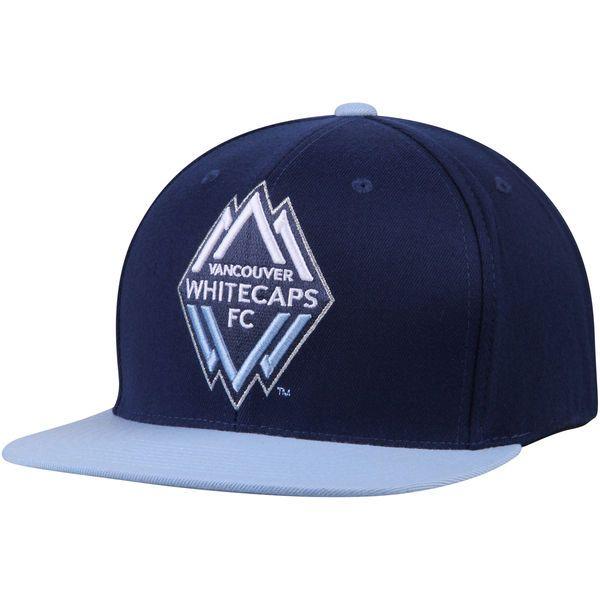 Vancouver Whitecaps FC Mitchell & Ness XL Logo Two-Tone Snapback Adjustable Hat - Navy/Light Blue - $29.99
