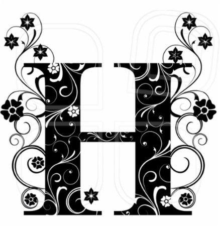 Letter capital H