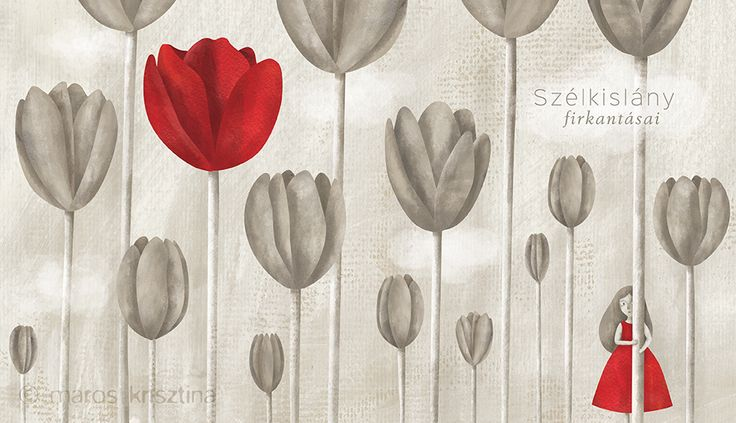 Illustration for a book 'Heart outgrown' written by Imola Julianna Szabó (Illustration © Krisztina Maros, 2015)