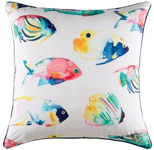 Cushion cover kas size 50cm x 50cm tropical fish multi design bobin boutique A