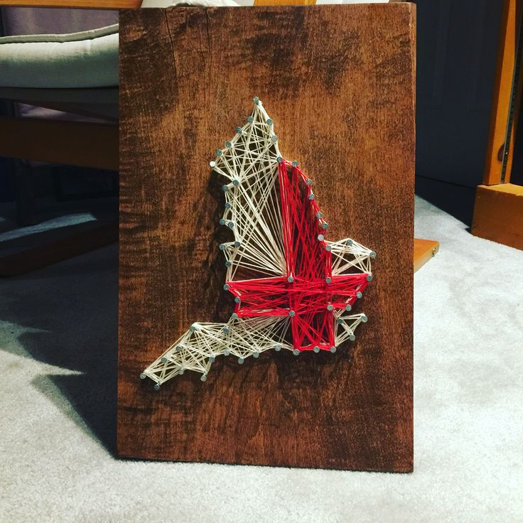 DIY String Art Map of England and St. Georges Cross