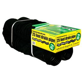 FLEX-Drain 4-in x 25-ft 70-PSI Corrugated Drain with Filter Sock Pipe
