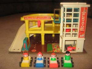 Fisher Price Little People Garage.  I ran the wheels off of these cars!