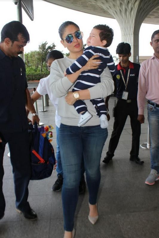 Kareena Kapoor finally has started shooting her first film after her baby Taimur.  Kareena who had recently gone on holiday with Baby Taimur and hubby Saif is now going to her shoot of the film Veere Di Wedding directed by Shashanka Ghosh and co starring Sonam Kapoor, Swara Bhaskar and Shikha...