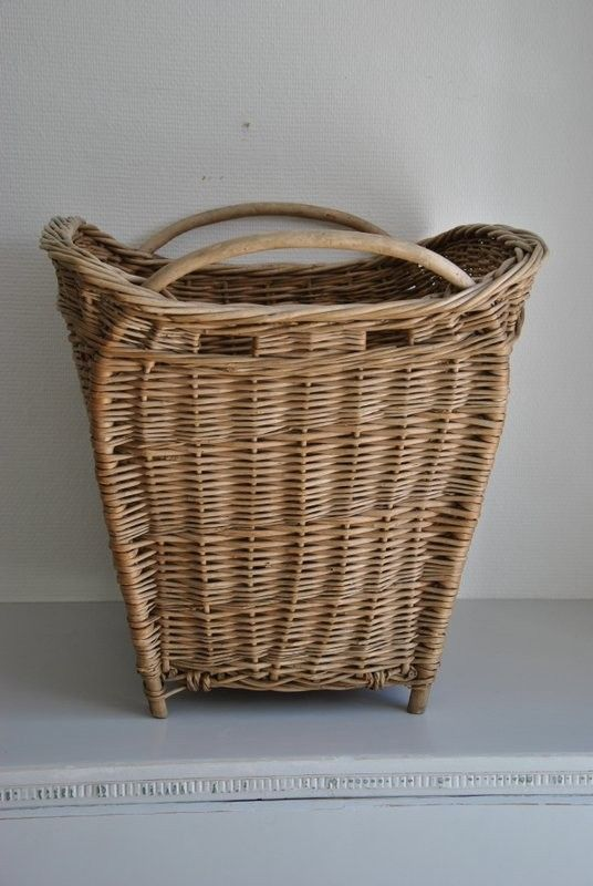 Antique french basket. would love to have a basket like this to paint and then use to store umbrellas