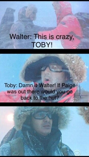 I love how Walter's face changes because he realises how important Happy is to Toby. Scorpion