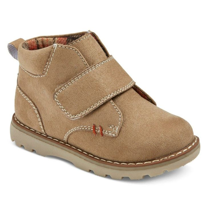 Toddler Boys' Clint One Strap Fashion Boots Cat & Jack - Tan