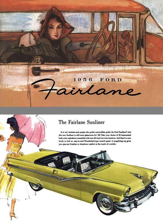 Ford 1956 - 1956 Ford Fairlane - The Fairlane Series - 6 autos nuevos y distinguidos de Ford