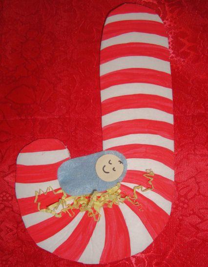 Preschool christmas crafts jesus religious candy cane for Christian christmas crafts for preschoolers