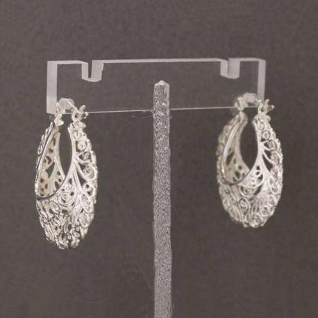 Arracadas de plata, earrings in sterling silver